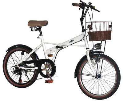 自転車の ミニ自転車カゴ : ... 折りたたみ自転車 20インチ.png
